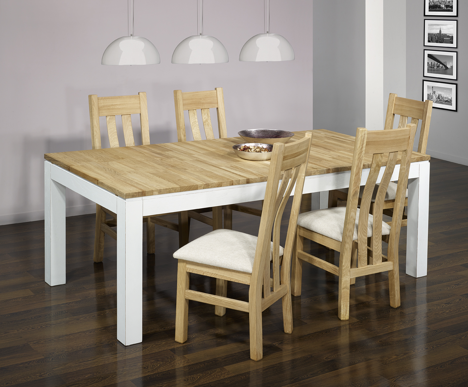 table de repas rectangulaire alexandre 200x100 en ch ne ligne contemporaine version ecologique. Black Bedroom Furniture Sets. Home Design Ideas