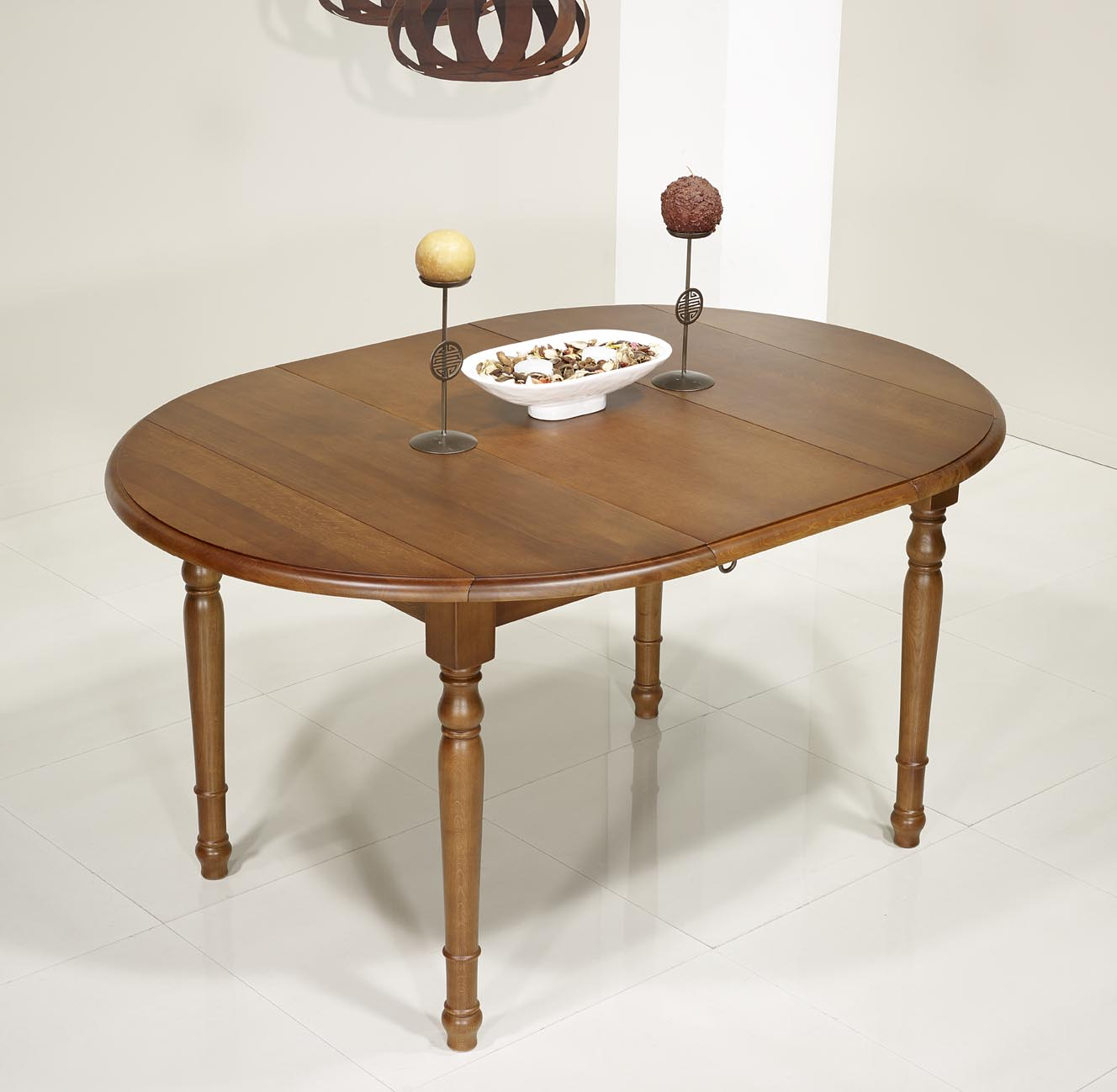 Table ronde volets en ch ne massif de style louis - Table ronde style louis philippe ...