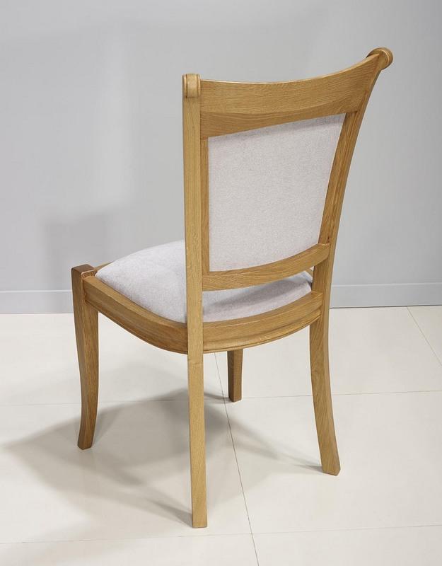 chaise benjamin en ch ne massif de style louis philippe tissu gris clair meuble en ch ne. Black Bedroom Furniture Sets. Home Design Ideas