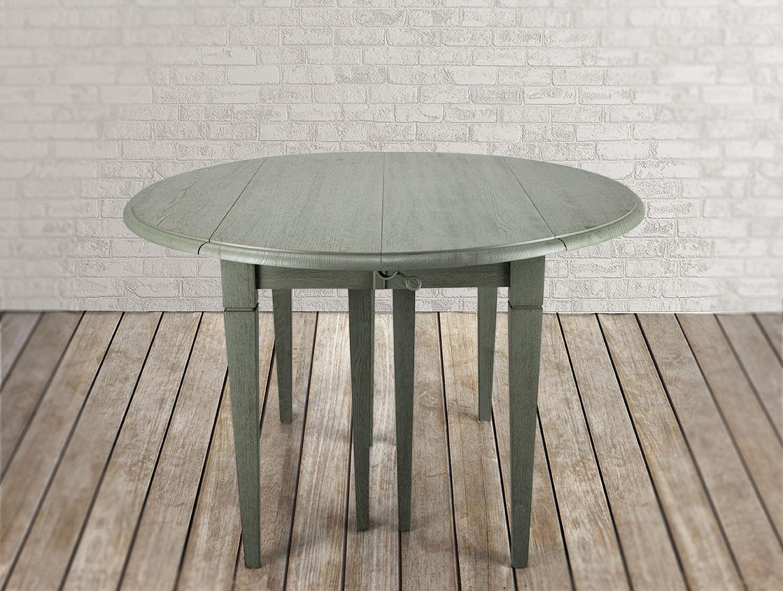 table ronde volets diam tre 120 en ch ne massif de style louis philippe 7 allonges de 40 cm 8. Black Bedroom Furniture Sets. Home Design Ideas