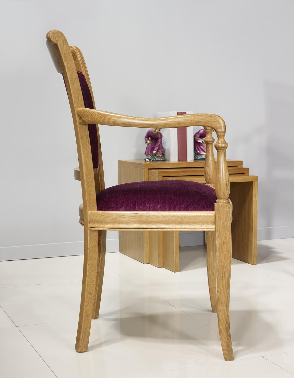 Fauteuil en Chêne Massif de style Louis Philippe , meuble en Chêne