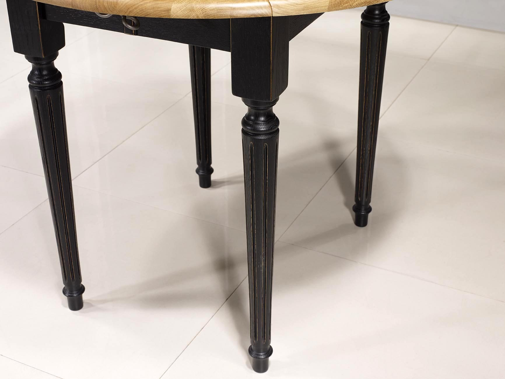 Table Ronde Volets Diam Tre 90 En Ch Ne Massif De Style Louis  # Meuble Tv Louis Xvi