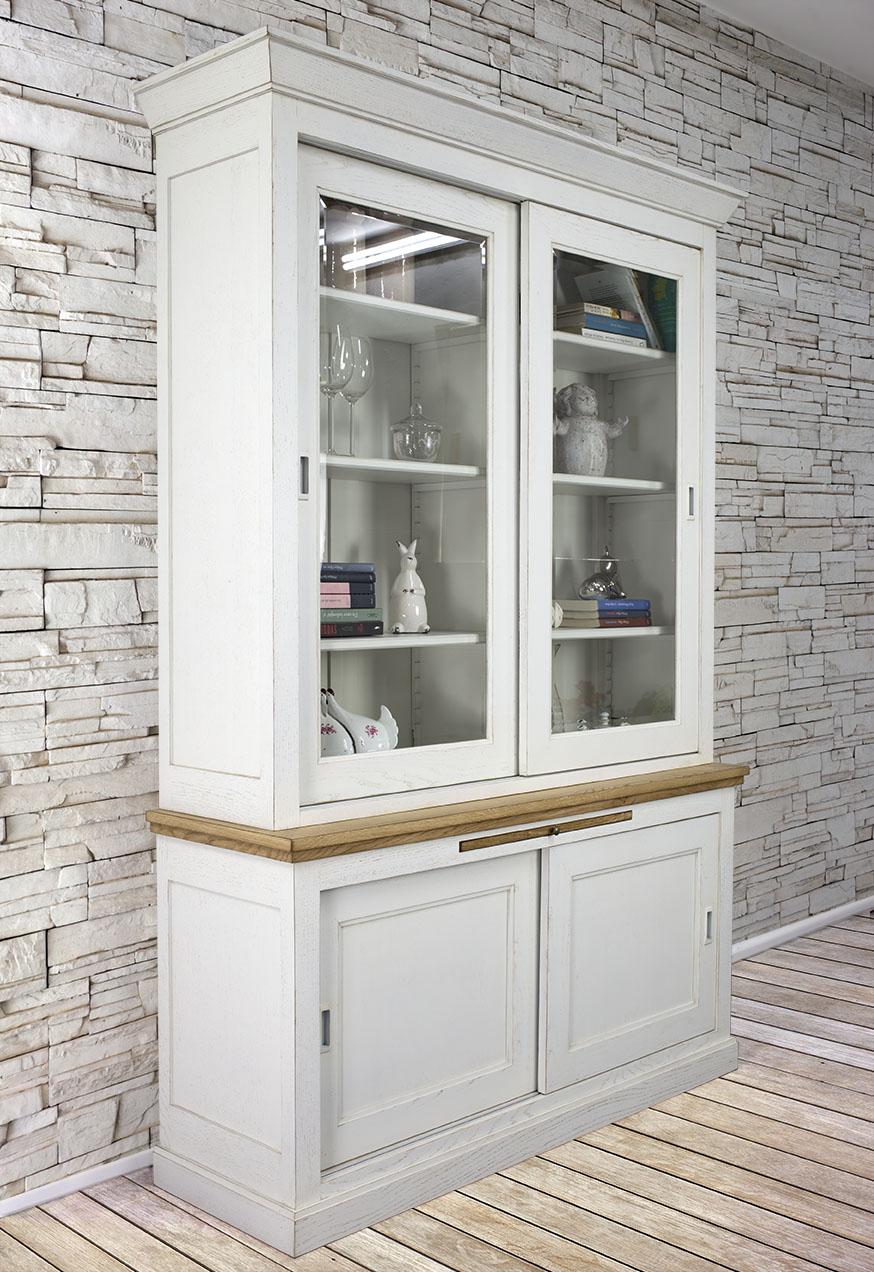 biblioth que 2 portes en ch ne massif de style directoire portes coulissantes meuble en ch ne. Black Bedroom Furniture Sets. Home Design Ideas