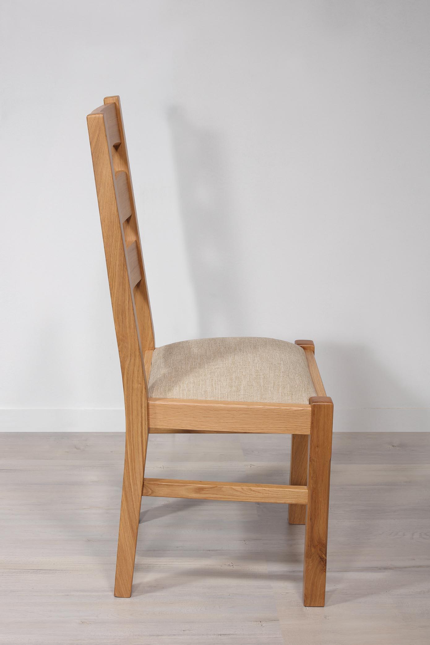De Nestor Chêne Style Beige Massif Campagnard Tissu Chaise En Assise yN8v0wOmnP
