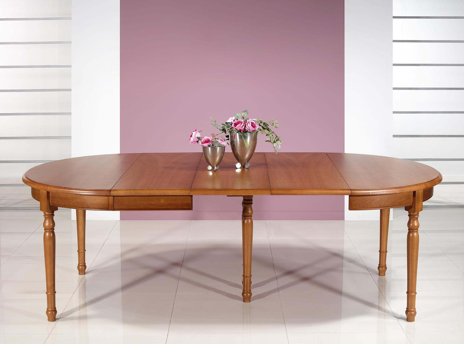 table ronde en ch ne massif de style louis philippe 3 allonges de 40 cm meuble en ch ne. Black Bedroom Furniture Sets. Home Design Ideas