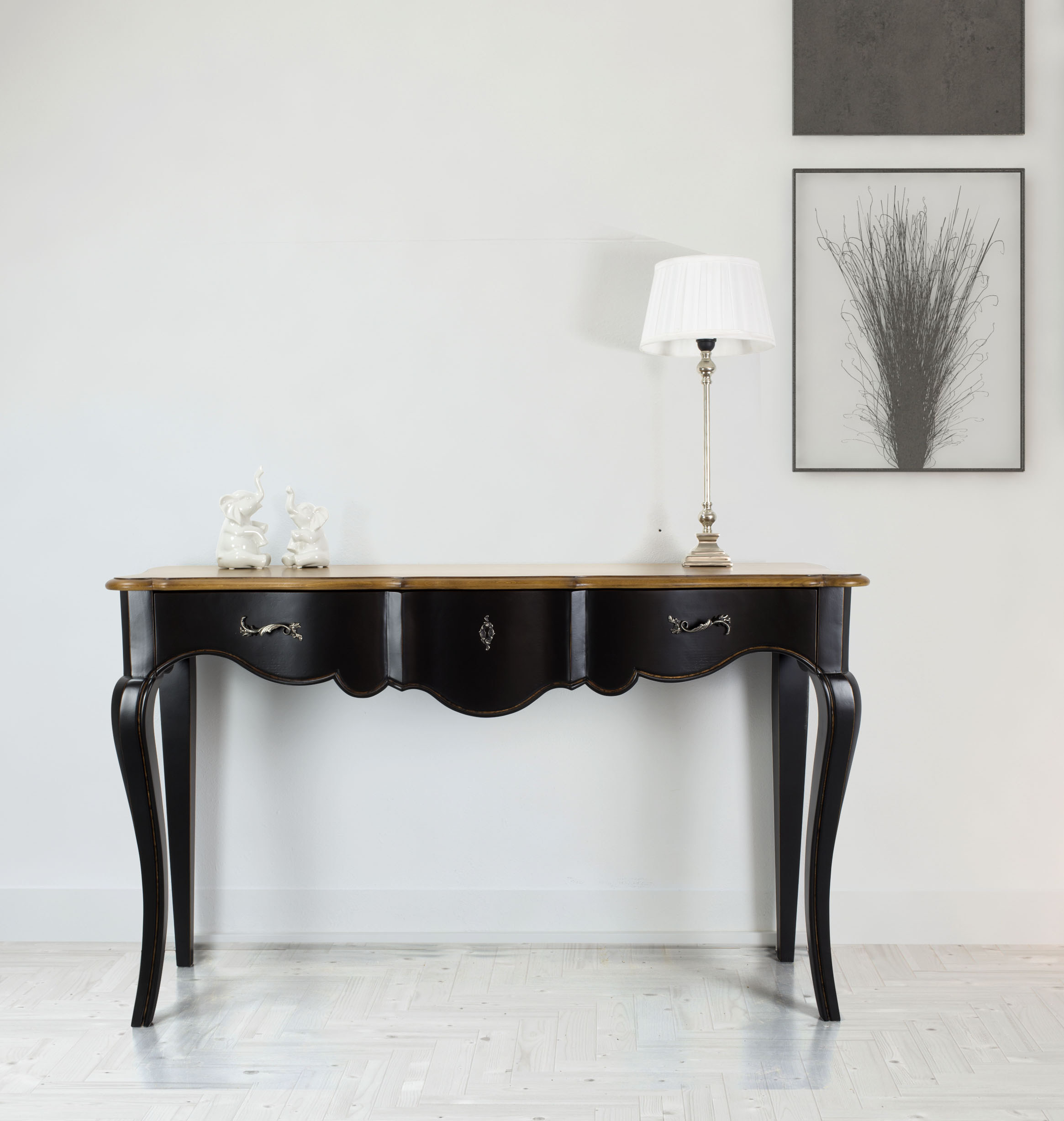 console cyrille en ch ne et merisier de style louis xv meuble en ch ne. Black Bedroom Furniture Sets. Home Design Ideas