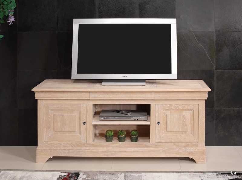meubles tv 16 9eme n en ch ne massif de style louis. Black Bedroom Furniture Sets. Home Design Ideas