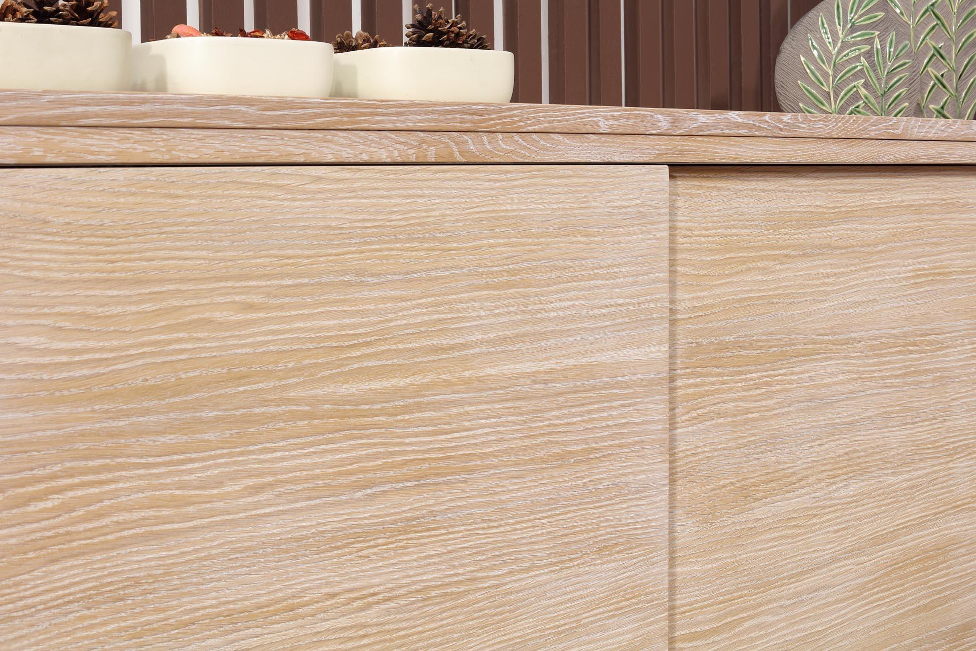 buffet 2 portes coulissantes hector en ch ne de ligne. Black Bedroom Furniture Sets. Home Design Ideas