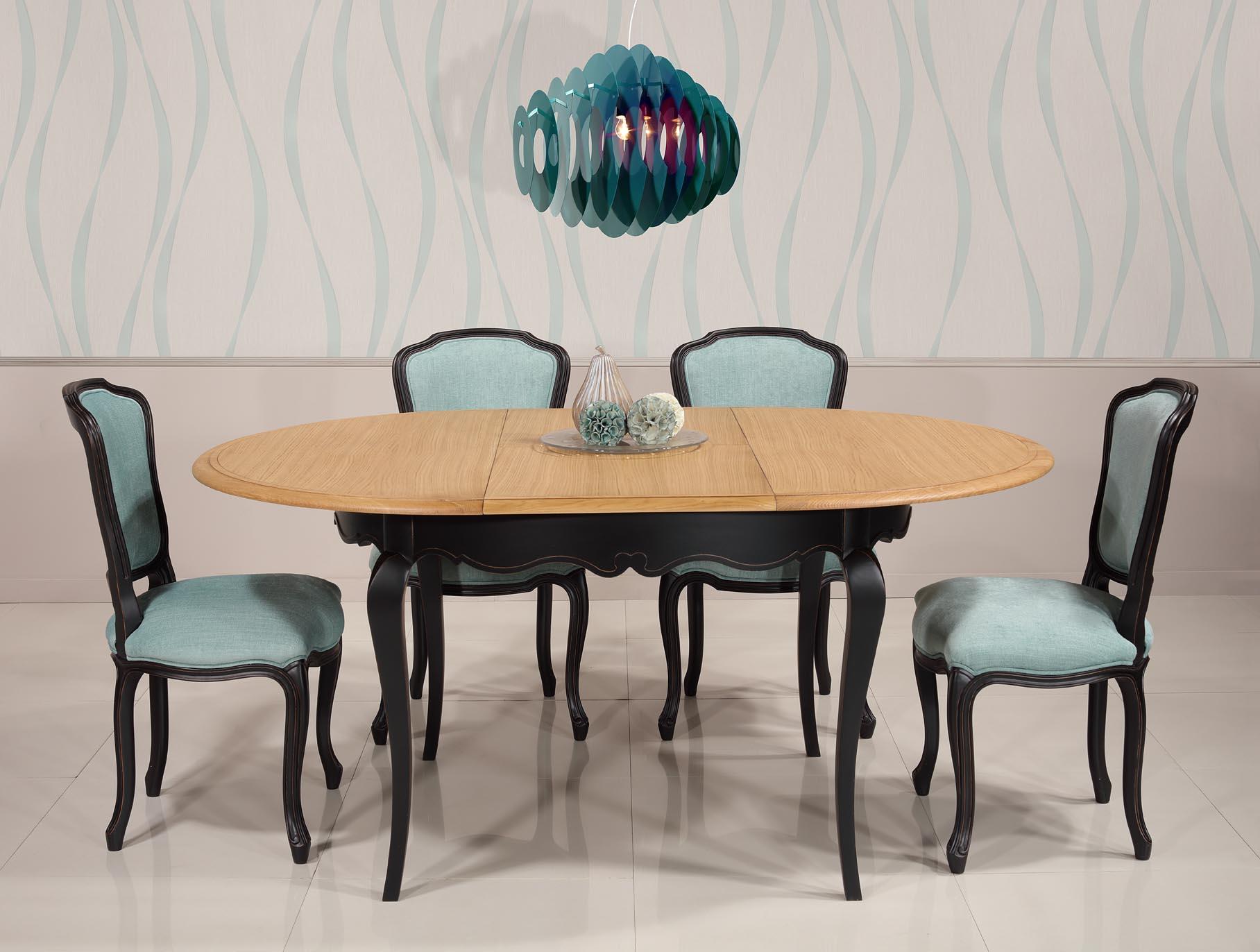 9fe2c8743c239 Table ronde Joffre réalisée en Chêne et Merisier de style Louis XV Diamètre  120 + 1 ...