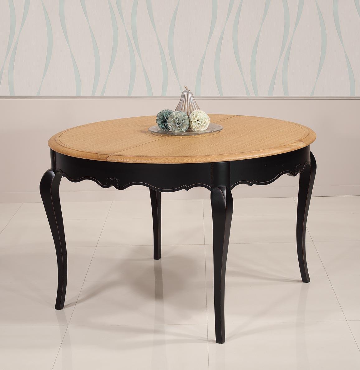 34d35f112b165 ... Table ronde Joffre réalisée en Chêne et Merisier de style Louis XV Diamètre  120 + 1 ...