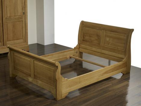 lit bateau 160x200 en ch ne massif de style louis philippe. Black Bedroom Furniture Sets. Home Design Ideas