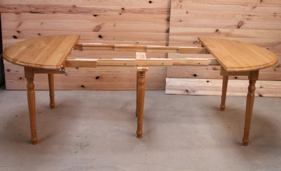 table ronde volets alain en ch ne massif de style louis. Black Bedroom Furniture Sets. Home Design Ideas