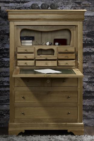secr taire camille en ch ne massif de style louis philippe meuble en ch ne. Black Bedroom Furniture Sets. Home Design Ideas