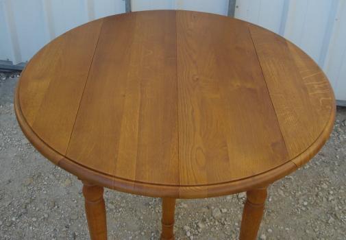 table ronde volets diametre 105 3 allonges en ch ne massif meuble en ch ne. Black Bedroom Furniture Sets. Home Design Ideas