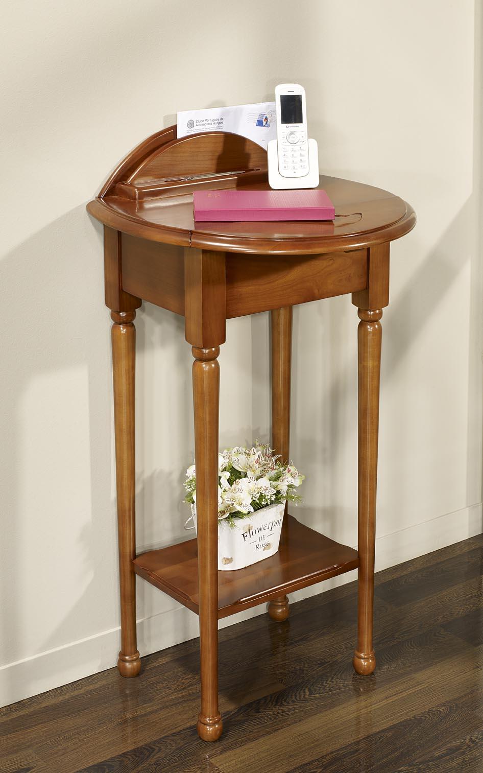 449c20428ced8d ... Table Téléphone Marie-Amélie réalisée en Chêne de style Louis Philippe  ...