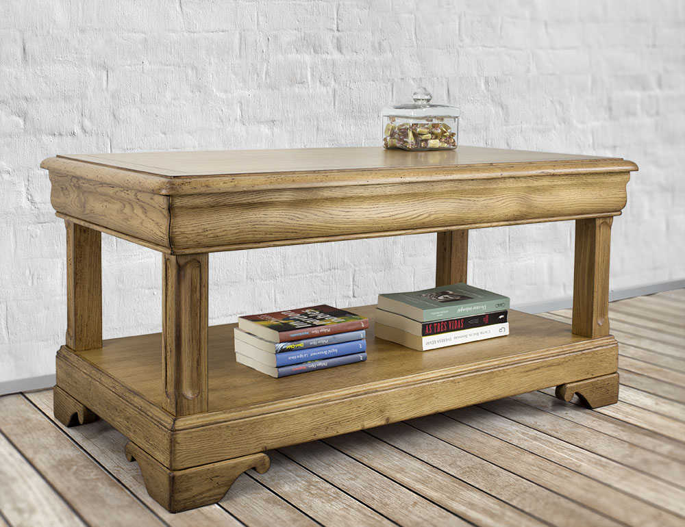 Table basse en ch ne de style louis philippe meuble en ch ne - Table basse louis philippe ...