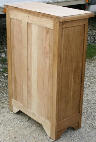 Farinier 1 porte 5 tiroirs en ch ne massif meuble en ch ne for Meuble antique kijiji