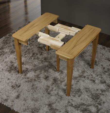 console ou table extensible en ch ne de style louis philippe meuble en ch ne. Black Bedroom Furniture Sets. Home Design Ideas