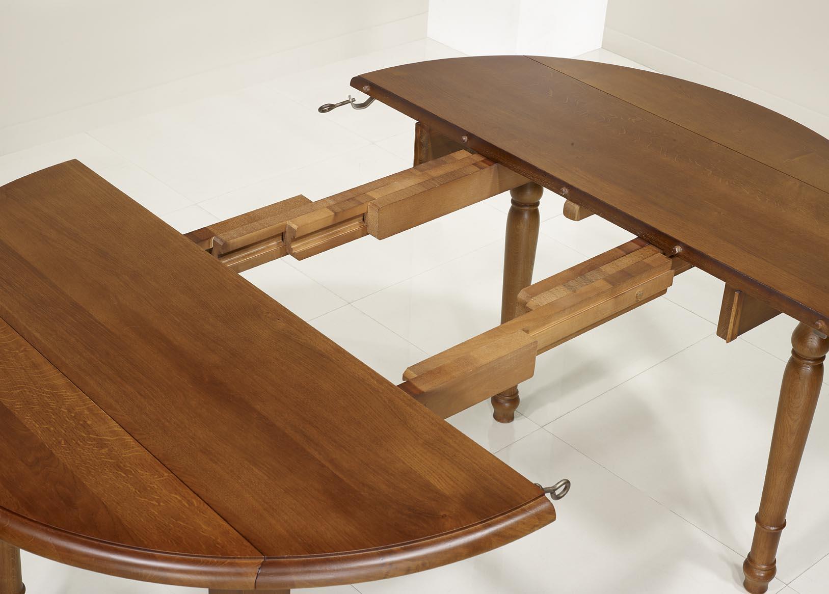 Table ronde 110 cm avec rallonge amazing gauche with for Plateau table ronde 110 cm