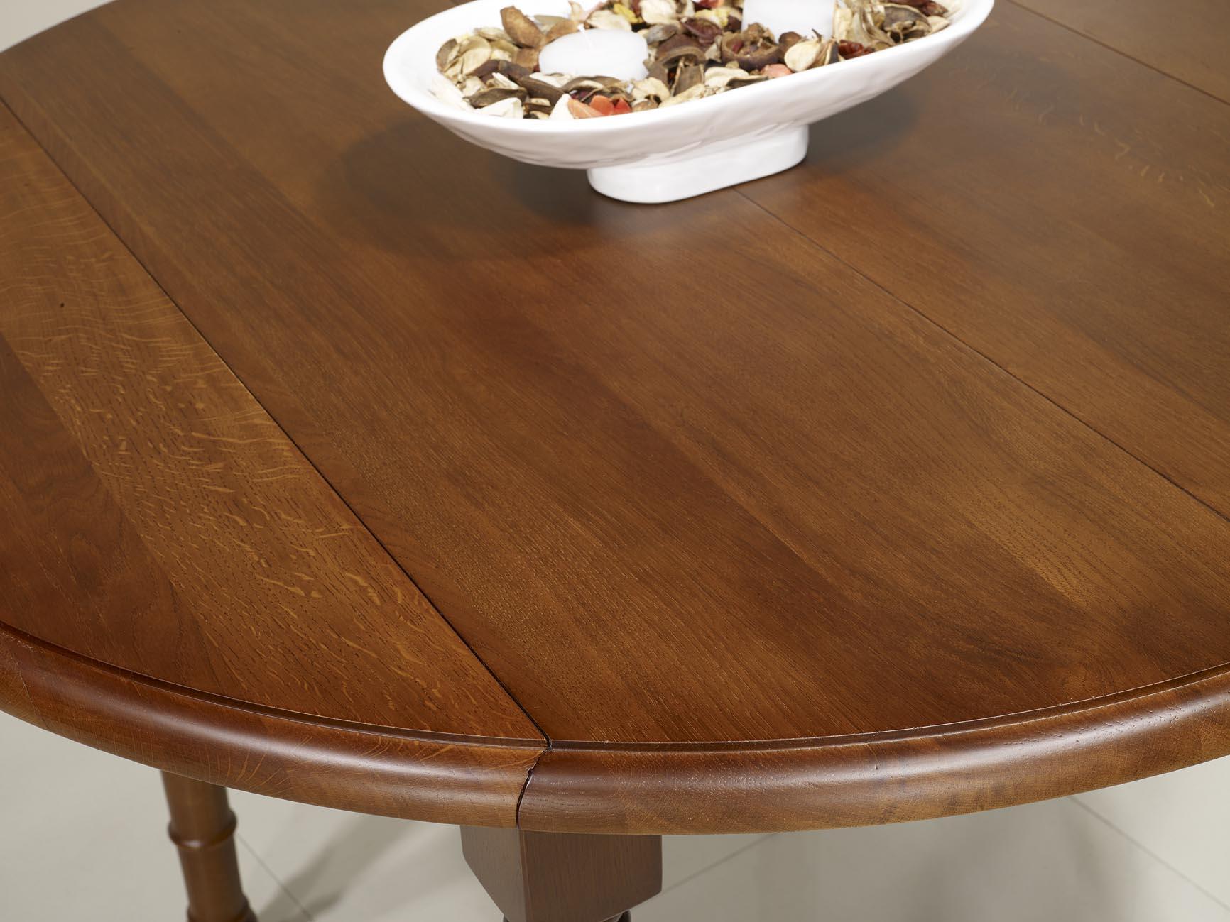 Table Ronde A Volets En Chene Massif De Style Louis Philippe