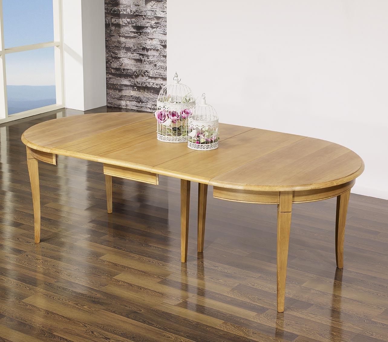 Table ronde en ch ne massif de style louis philippe for Table 5 personnes