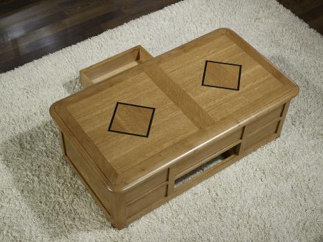 table basse bar en ch ne de style louis philippe meuble en ch ne. Black Bedroom Furniture Sets. Home Design Ideas