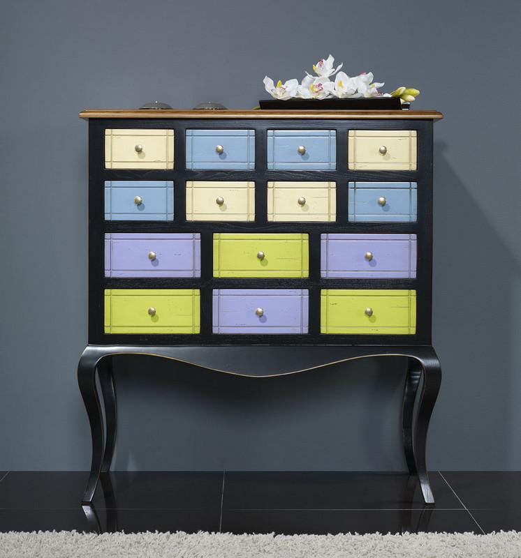 commode ou meuble d 39 entr e maud en merisier et chataignier. Black Bedroom Furniture Sets. Home Design Ideas