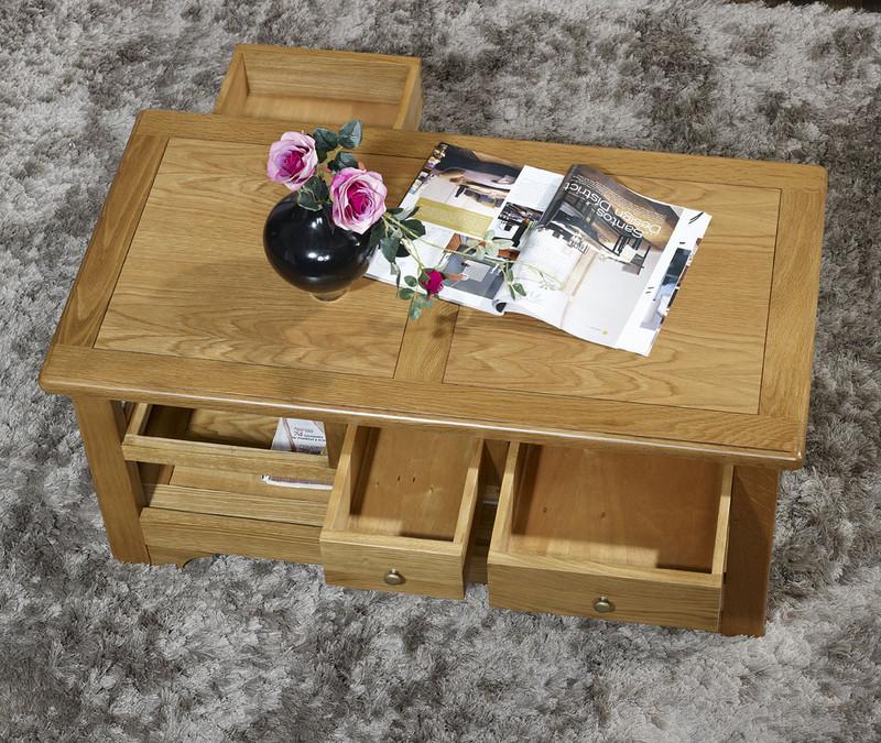 table basse rectangulaire baptiste en ch ne de style louis philippe campagnard meuble en ch ne. Black Bedroom Furniture Sets. Home Design Ideas