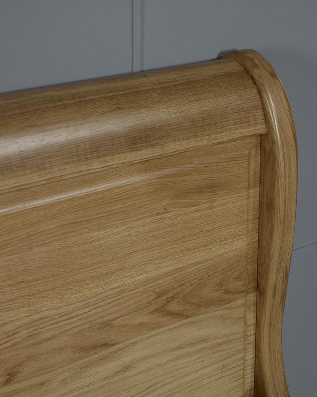 lit bateau en ch ne massif 90x190 meuble en ch ne. Black Bedroom Furniture Sets. Home Design Ideas