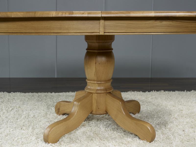 table ovale pied central ralise en chne massif de style louis philippe 170110 - Pied De Table En Bois Massif