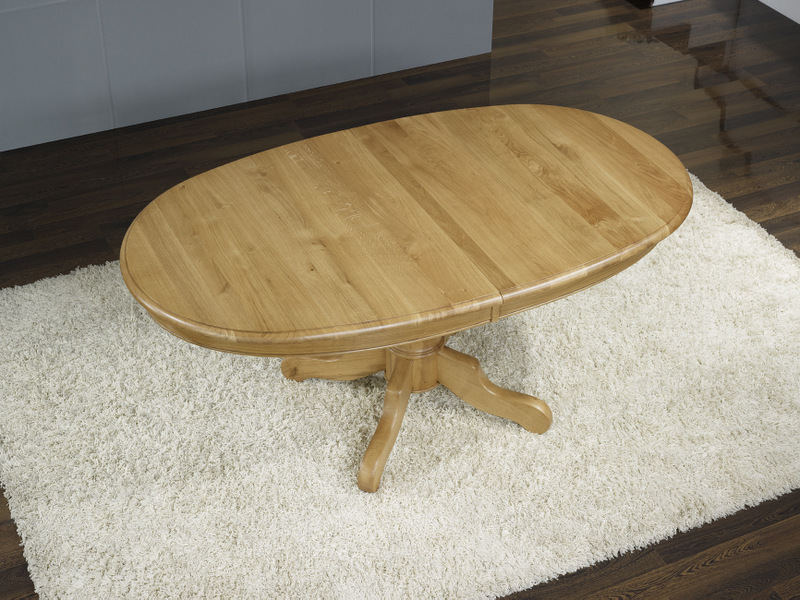Table Ovale Pied Central En Ch Ne Massif De Style Louis