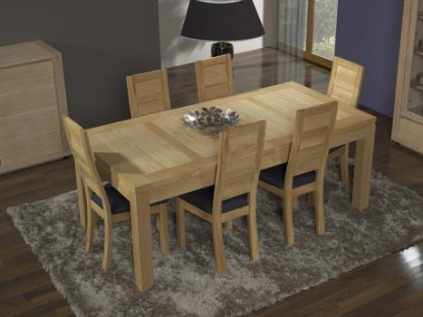 table de repas rectangulaire 200x100 alexandre en ch ne ligne contemporaine meuble en ch ne. Black Bedroom Furniture Sets. Home Design Ideas