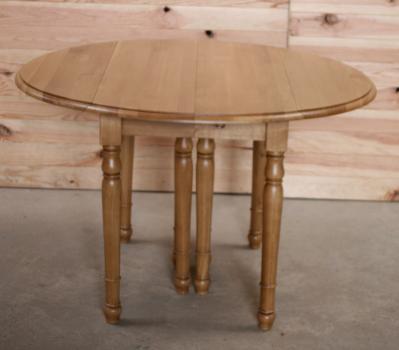 Table ronde volets 8 pieds en ch ne massif de style for Table ronde chene massif avec allonges