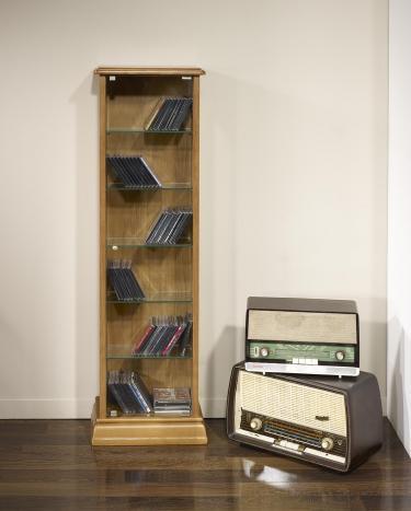 colonne cd pivotante en ch ne de style louis philippe meuble en ch ne. Black Bedroom Furniture Sets. Home Design Ideas