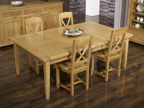 table de repas carr e en ch ne massif 150x150 meuble en ch ne. Black Bedroom Furniture Sets. Home Design Ideas