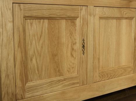 buffet 4 portes en ch ne massif de style campagnard longueur 260 cm meuble en ch ne. Black Bedroom Furniture Sets. Home Design Ideas