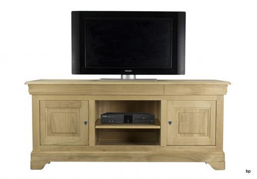Meuble tv - Meuble tv en chene naturel ...