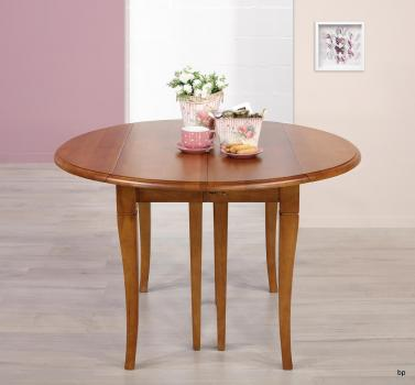 Table ronde à volets DIAMETRE 120  en chêne massif de style Louis Philippe 5 allonges de 40 cm BONNE AFFAIRE 1 DISPONIBLE