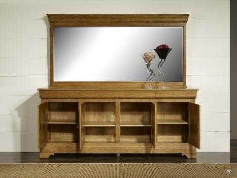 miroir pour buffet 4 portes en ch ne massif de style louis philippe meuble en ch ne. Black Bedroom Furniture Sets. Home Design Ideas