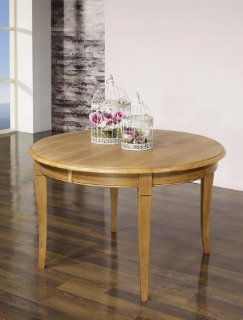 table ronde en ch ne massif de style louis philippe diametre 110 avec 5 allonges de 40 cm. Black Bedroom Furniture Sets. Home Design Ideas