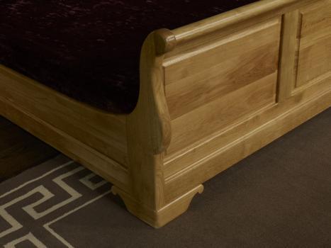 lit bateau en ch ne massif 160 200 de style louis philippe meuble en ch ne. Black Bedroom Furniture Sets. Home Design Ideas