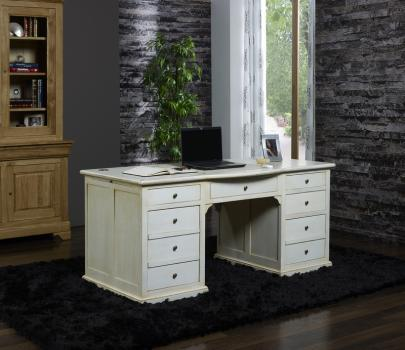 bureau 5 tiroirs en ch ne de style louis philippe meuble. Black Bedroom Furniture Sets. Home Design Ideas