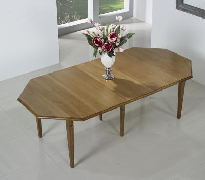 table volets octogonale 120x120 en ch ne massif 6 pieds. Black Bedroom Furniture Sets. Home Design Ideas